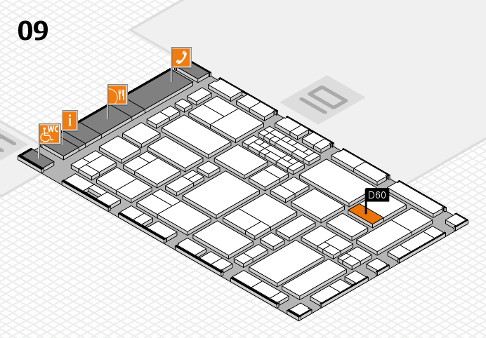EuroShop 2017 hall map (Hall 9): stand D60