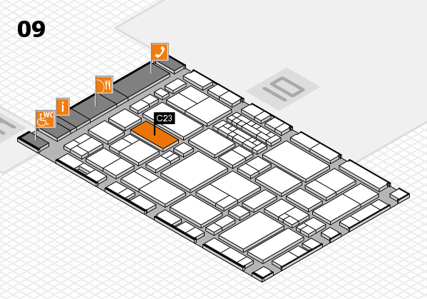 EuroShop 2017 hall map (Hall 9): stand C23