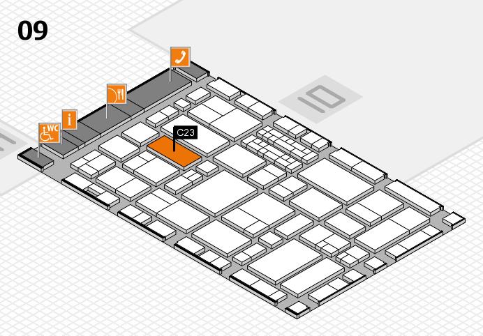 EuroShop 2017 hall map (Hall 9): stand C23
