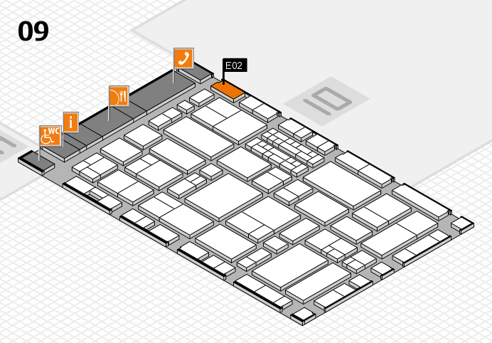 EuroShop 2017 hall map (Hall 9): stand E02
