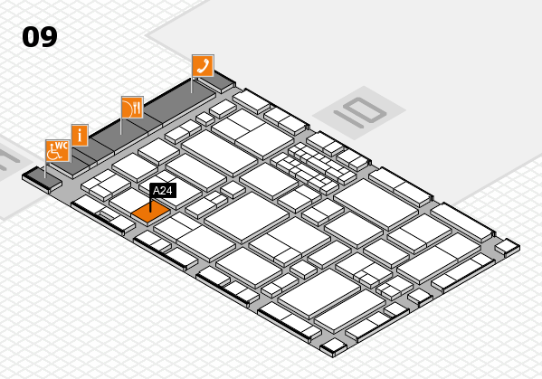 EuroShop 2017 hall map (Hall 9): stand A24