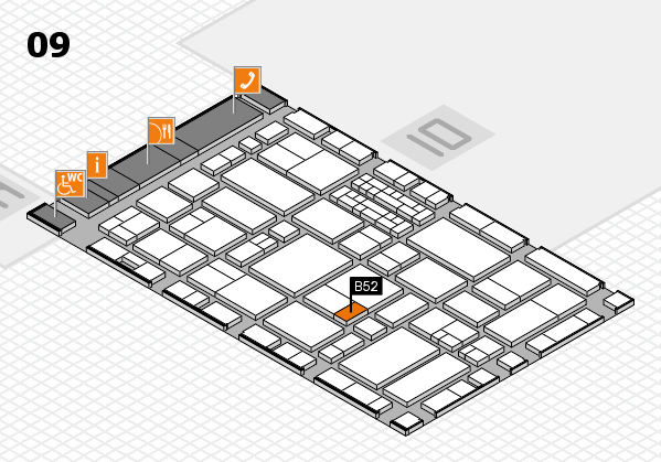 EuroShop 2017 hall map (Hall 9): stand B52