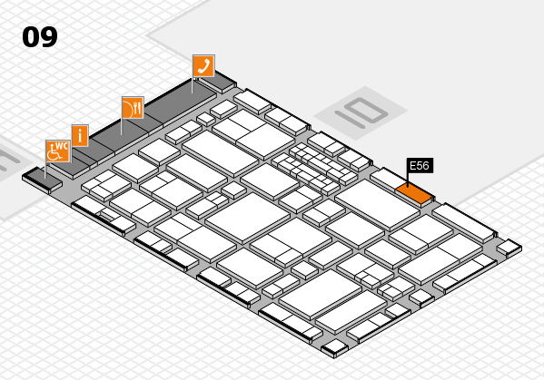 EuroShop 2017 hall map (Hall 9): stand E56