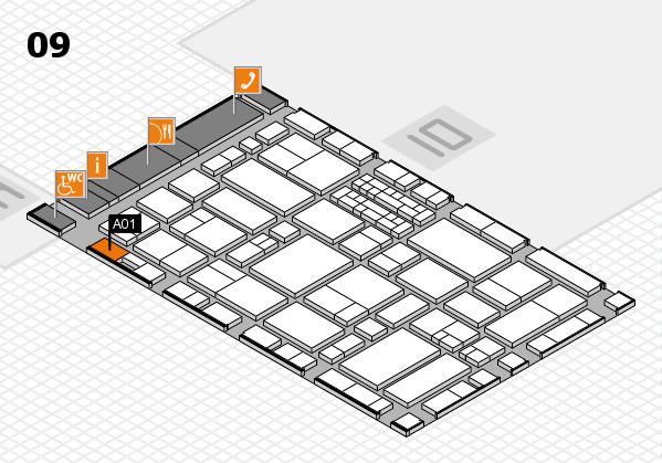 EuroShop 2017 hall map (Hall 9): stand A01