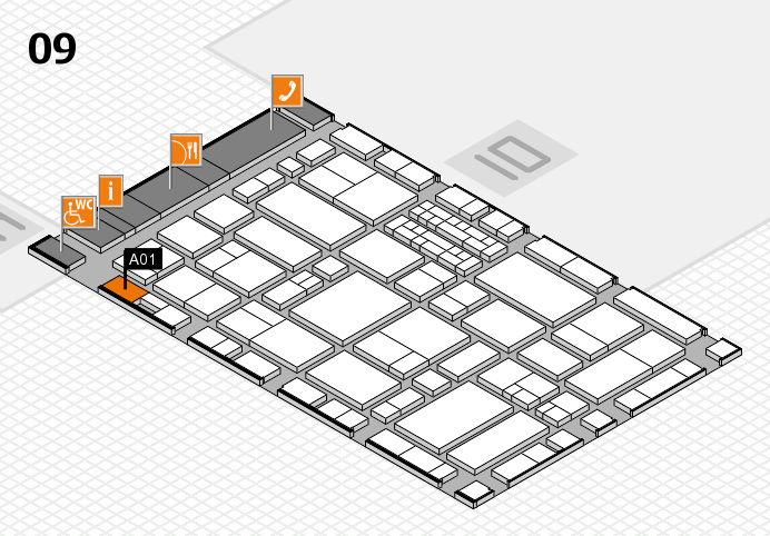 EuroShop 2017 hall map (Hall 9): stand A01