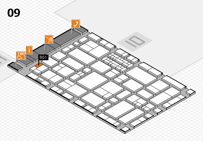 EuroShop 2017 hall map (Hall 9): stand B01