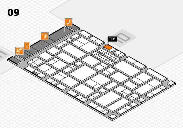 EuroShop 2017 hall map (Hall 9): stand E26