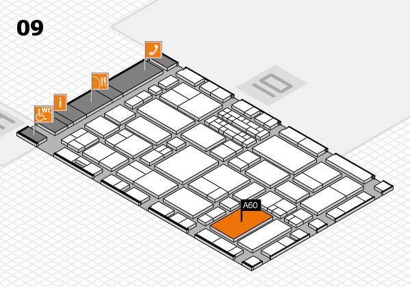 EuroShop 2017 hall map (Hall 9): stand A60