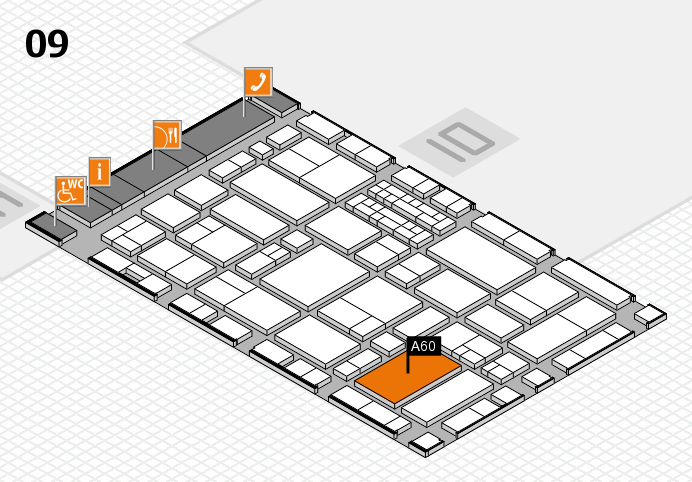 EuroShop 2017 hall map (Hall 9): stand A60