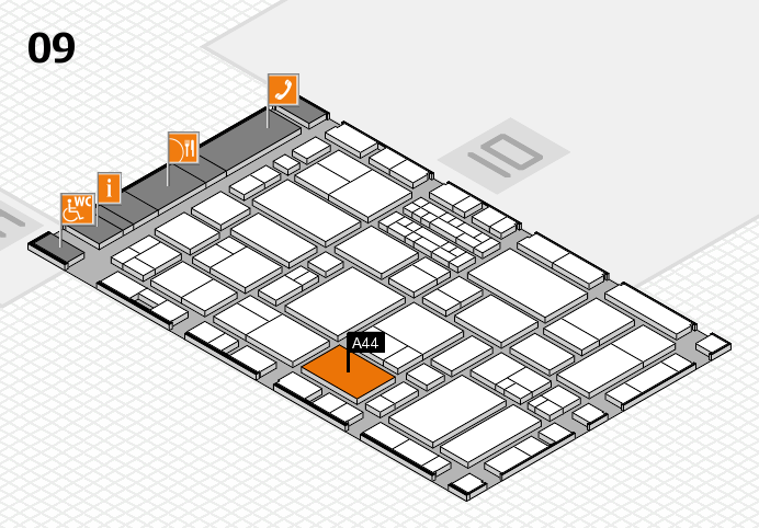 EuroShop 2017 hall map (Hall 9): stand A44