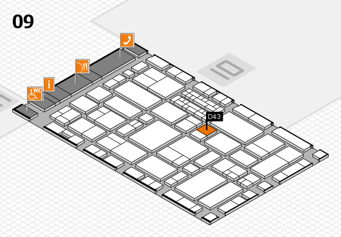 EuroShop 2017 hall map (Hall 9): stand D43