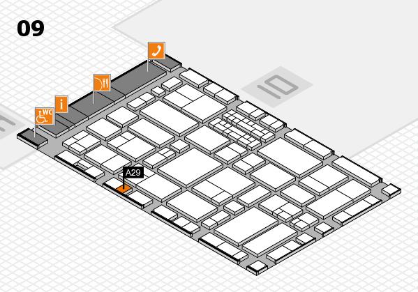 EuroShop 2017 hall map (Hall 9): stand A29