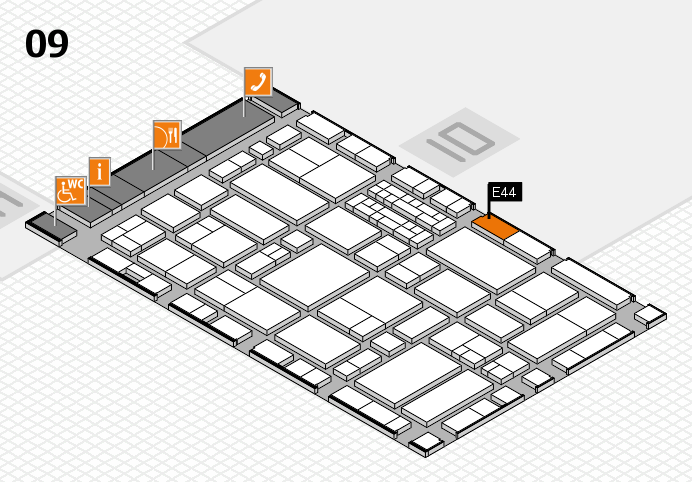 EuroShop 2017 hall map (Hall 9): stand E44