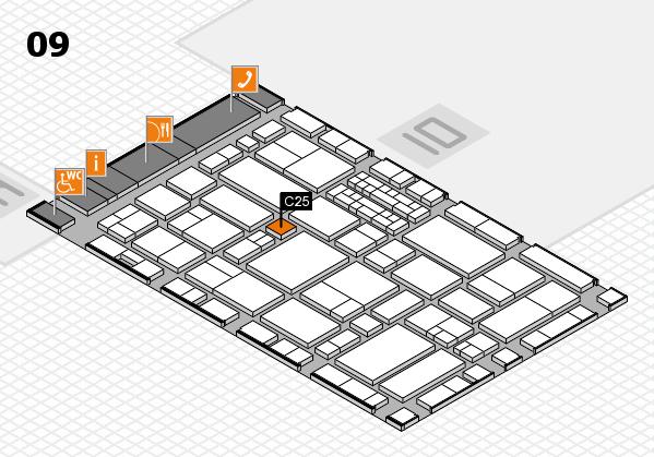 EuroShop 2017 hall map (Hall 9): stand C25