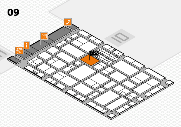 EuroShop 2017 hall map (Hall 9): stand C26