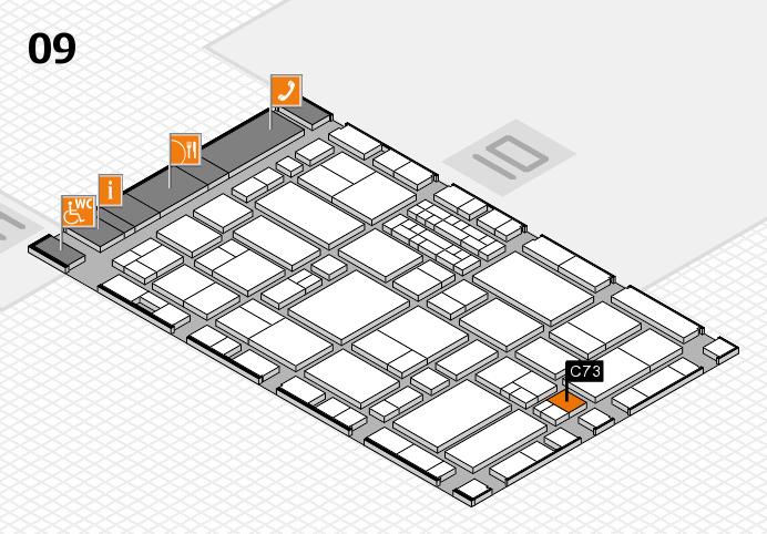 EuroShop 2017 hall map (Hall 9): stand C73