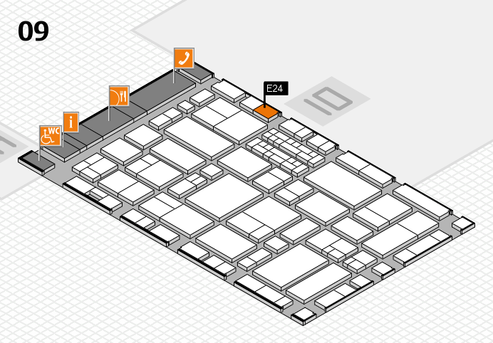 EuroShop 2017 hall map (Hall 9): stand E24