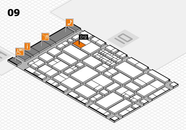 EuroShop 2017 hall map (Hall 9): stand D12