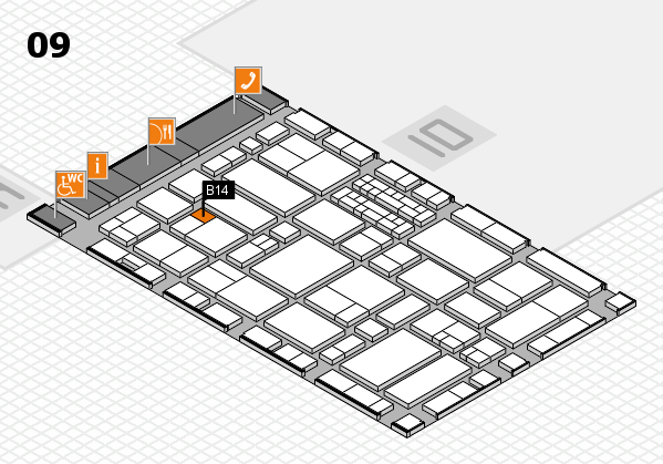 EuroShop 2017 hall map (Hall 9): stand B14