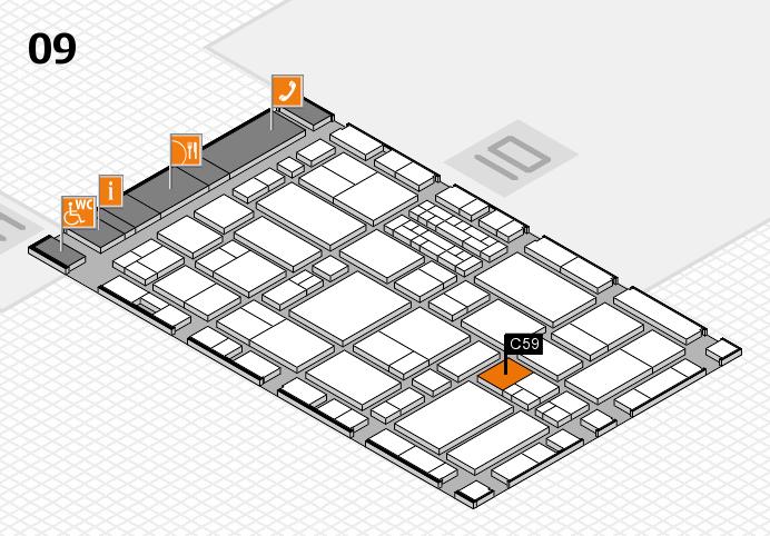 EuroShop 2017 hall map (Hall 9): stand C59