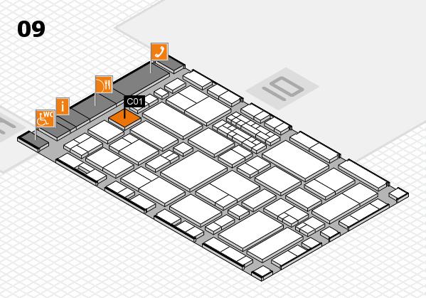 EuroShop 2017 hall map (Hall 9): stand C01