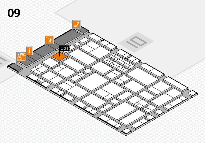 EuroShop 2017 hall map (Hall 9): stand C01