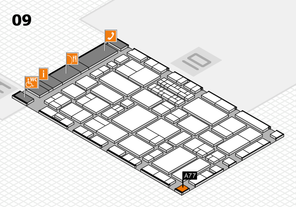 EuroShop 2017 hall map (Hall 9): stand A77