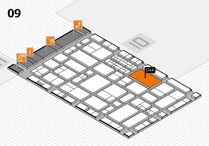 EuroShop 2017 hall map (Hall 9): stand D44
