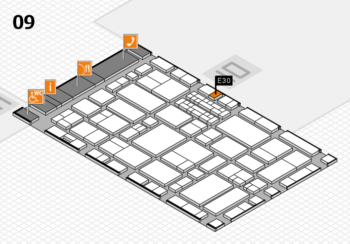 EuroShop 2017 hall map (Hall 9): stand E30