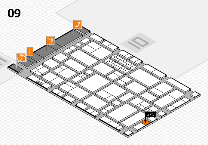 EuroShop 2017 hall map (Hall 9): stand B75