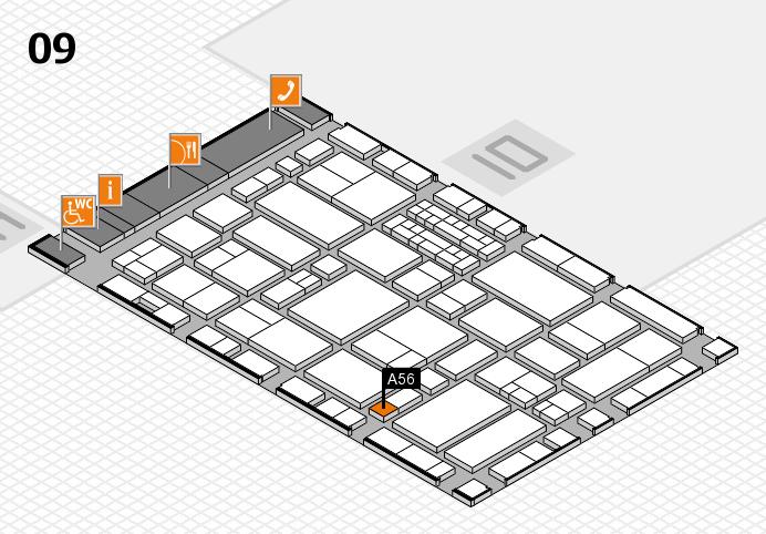 EuroShop 2017 hall map (Hall 9): stand A56