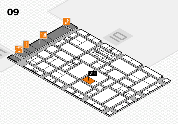 EuroShop 2017 hall map (Hall 9): stand B44