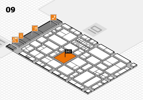 EuroShop 2017 hall map (Hall 9): stand B40