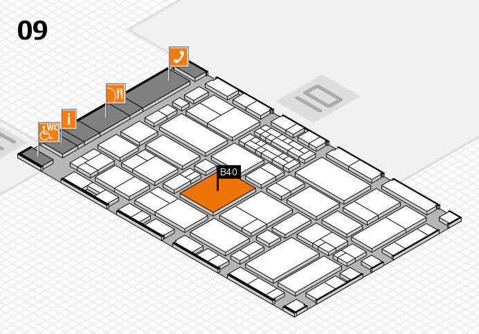 EuroShop 2017 hall map (Hall 9): stand B40