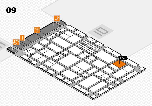EuroShop 2017 hall map (Hall 9): stand E59