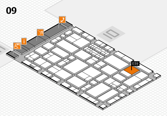 EuroShop 2017 hall map (Hall 9): stand E59
