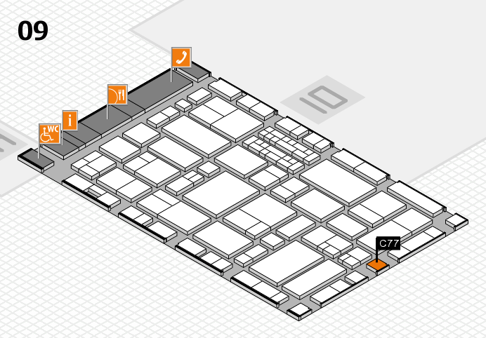 EuroShop 2017 hall map (Hall 9): stand C77