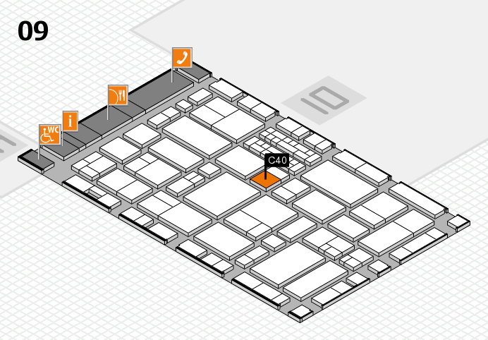 EuroShop 2017 hall map (Hall 9): stand C40