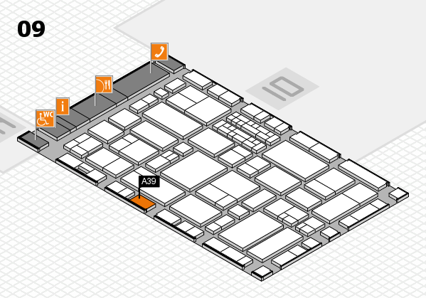 EuroShop 2017 hall map (Hall 9): stand A39