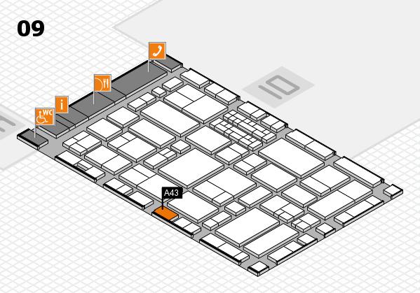 EuroShop 2017 hall map (Hall 9): stand A43