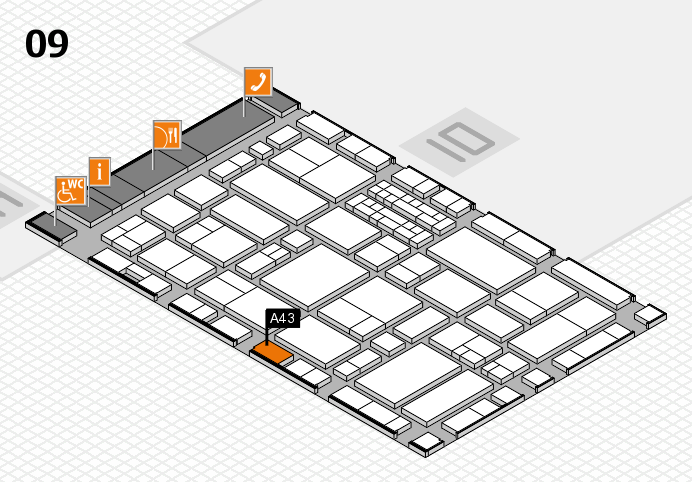 EuroShop 2017 hall map (Hall 9): stand A43