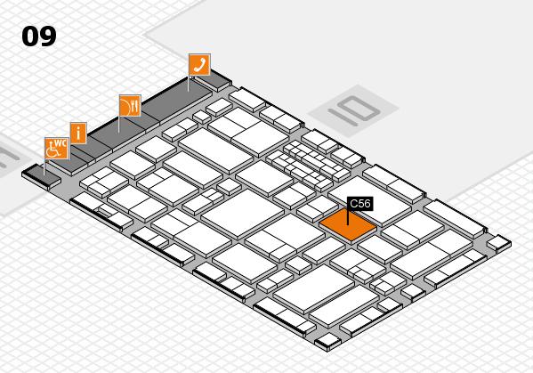 EuroShop 2017 hall map (Hall 9): stand C56