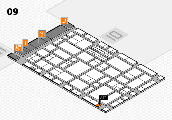 EuroShop 2017 hall map (Hall 9): stand A73