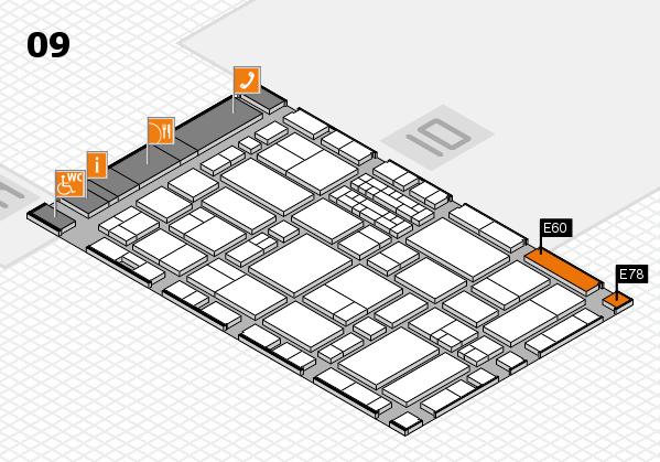 EuroShop 2017 hall map (Hall 9): stand E60, stand E78
