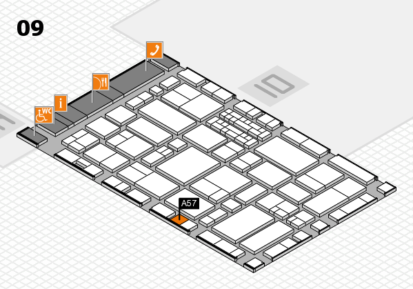 EuroShop 2017 hall map (Hall 9): stand A57