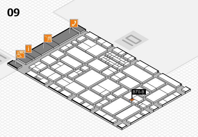 EuroShop 2017 hall map (Hall 9): stand B70-B