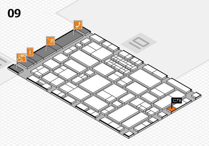 EuroShop 2017 hall map (Hall 9): stand C78