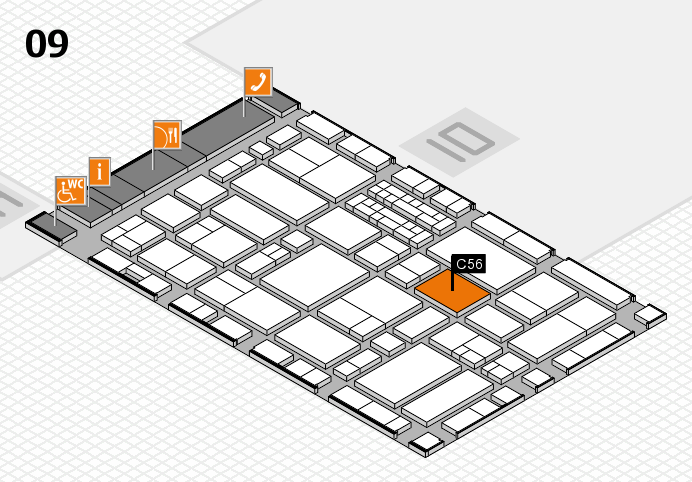EuroShop 2017 hall map (Hall 9): stand C56