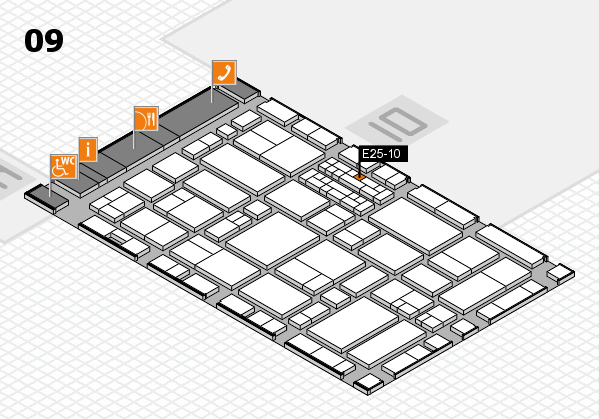 EuroShop 2017 hall map (Hall 9): stand E25-10