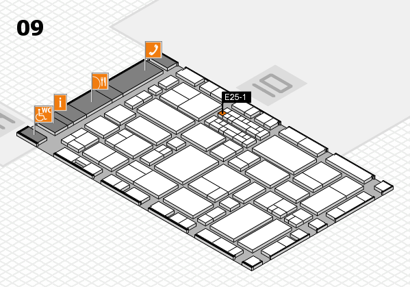 EuroShop 2017 hall map (Hall 9): stand E25-1